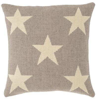 Star Indoor/Outdoor Throw Pillow Color: Grey / Ivory