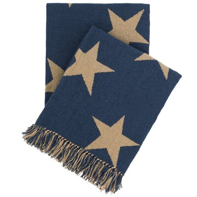 Star Indoor/Outdoor Throw Color: Navy / Camel
