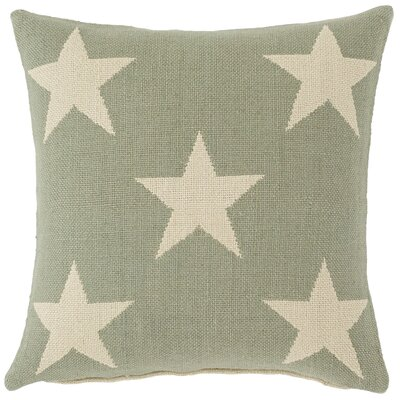 Star Indoor/Outdoor Throw Pillow Color: Ocean / Ivory