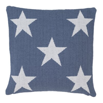 Star Outdoor Throw Pillow Color: Denim / White