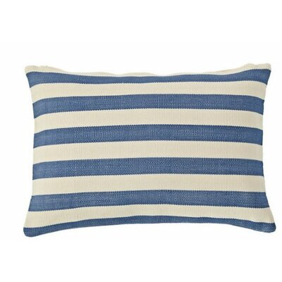Trimaran Outdoor Lumbar Pillow Color: Denim / Ivory