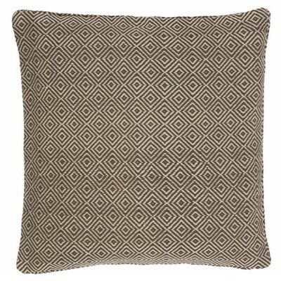 Petit Diamond Indoor/Outdoor Throw Pillow Color: Charcoal / Platinum