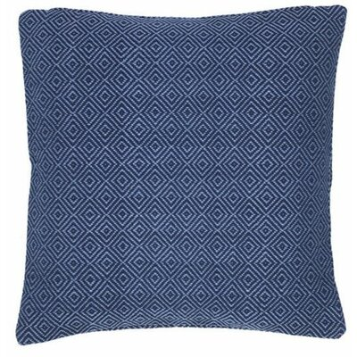 Petit Diamond Outdoor Throw Pillow Color: Navy / Denim