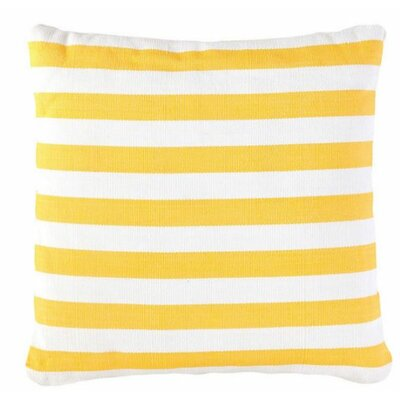 Trimaran Indoor/Outdoor Throw Pillow Color: Daffodil / White