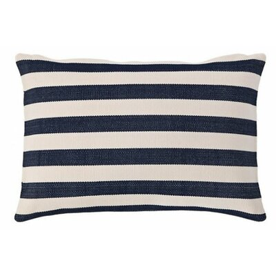 Trimaran Indoor/Outdoor Lumbar Pillow Color: Navy / Ivory