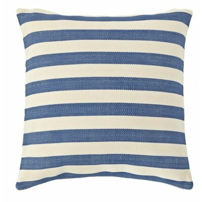 Trimaran Indoor/Outdoor Throw Pillow Color: Denim / Ivory