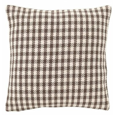 Houndstooth Indoor/Outdoor Throw Pillow Color: Charcoal