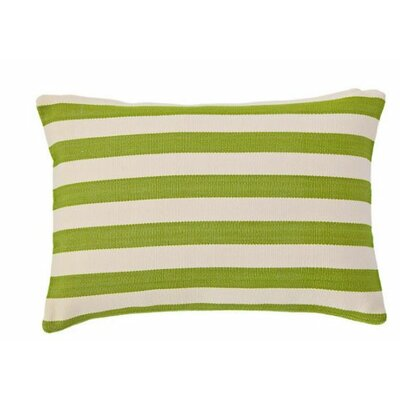 Trimaran Outdoor Lumbar Pillow Color: Sprout / Ivory