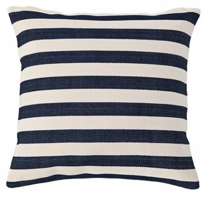 Trimaran Indoor/Outdoor Throw Pillow Color: Navy / Ivory