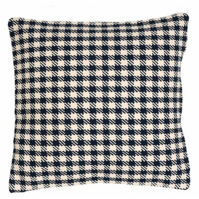 Houndstooth Indoor/Outdoor Throw Pillow Color: Navy