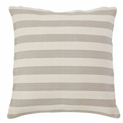 Trimaran Outdoor Throw Pillow Color: Platinum / Ivory