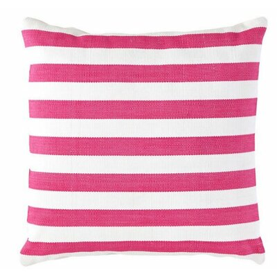Trimaran Indoor/Outdoor Throw Pillow Color: Fuchsia / White