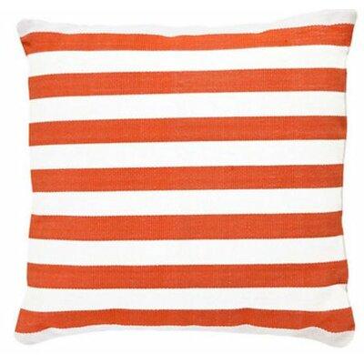 Trimaran Indoor/Outdoor Throw Pillow Color: Tangerine / White