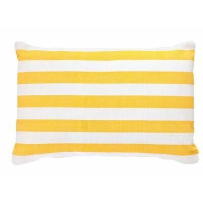 Trimaran Outdoor Lumbar Pillow Color: Daffodil / White