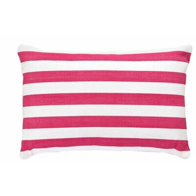 Trimaran Indoor/Outdoor Lumbar Pillow Color: Fuchsia / White