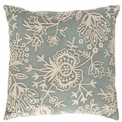 Flora Crewel Indoor/Outdoor Throw Pillow Color: Light Blue