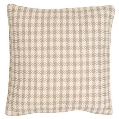 Houndstooth Indoor/Outdoor Throw Pillow Color: Platinum