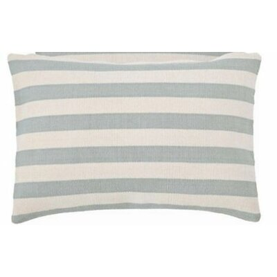 Trimaran Indoor/Outdoor Lumbar Pillow Color: Light Blue / Ivory