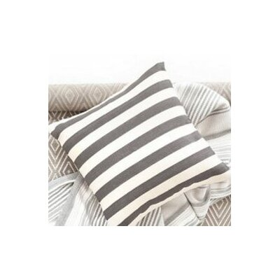 Trimaran Outdoor Throw Pillow Color: Graphite / Ivory