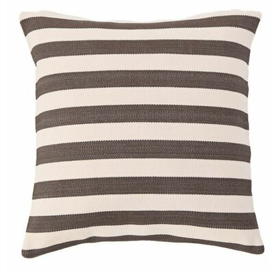 Trimaran Outdoor Throw Pillow Color: Charcoal / Ivory