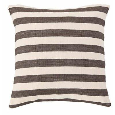 Trimaran Indoor/Outdoor Throw Pillow Color: Charcoal / Ivory