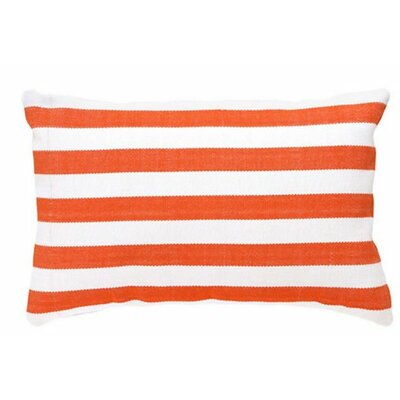 Trimaran Outdoor Lumbar Pillow Color: Tangerine / White
