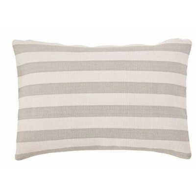 Trimaran Outdoor Lumbar Pillow Color: Platinum / Ivory