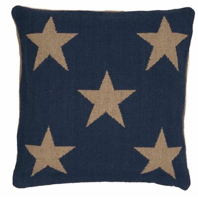Star Indoor/Outdoor Throw Pillow Color: Navy / Camel