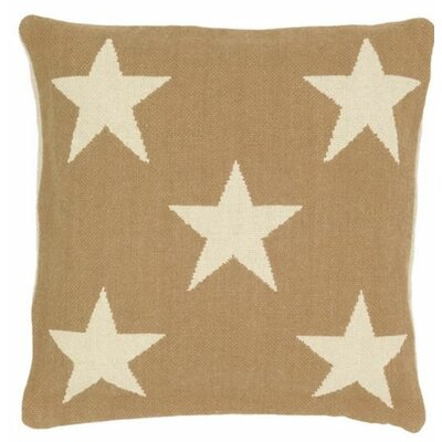 Star Indoor/Outdoor Throw Pillow Color: Camel / Ivory
