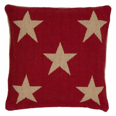Star Outdoor Throw Pillow Color: Red / Camel