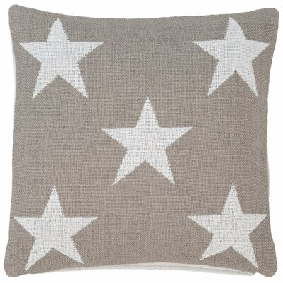 Star Indoor/Outdoor Throw Pillow Color: Platinum / White