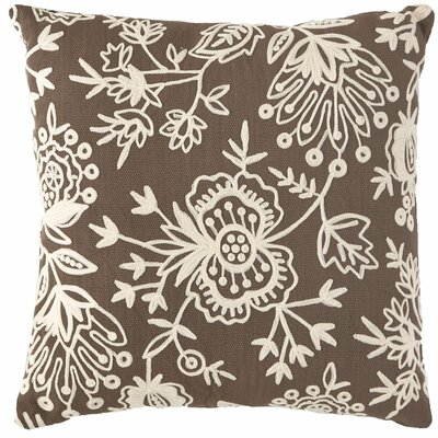 Flora Crewel Indoor/Outdoor Throw Pillow