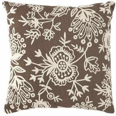 Flora Crewel Indoor/Outdoor Throw Pillow Color: Charcoal