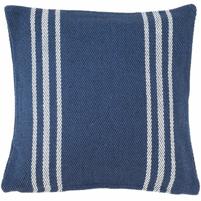 Lexington Indoor/Outdoor Throw Pillow Color: Navy / White