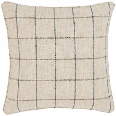 Chatham Tattersall Outdoor Throw Pillow Color: Natural / Grey