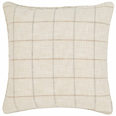 Chatham Tattersall Indoor/Outdoor Throw Pillow Color: Navy / Brown