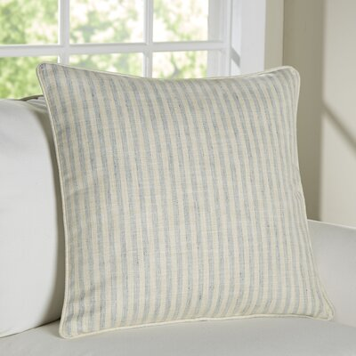 Adams Ticking Indoor/Outdoor Throw Pillow Color: Light Blue