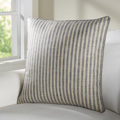 Adams Ticking Indoor/Outdoor Throw Pillow Color: Navy
