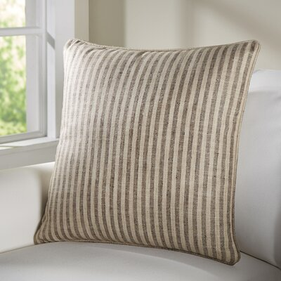 Adams Ticking Indoor/Outdoor Throw Pillow Color: Brown