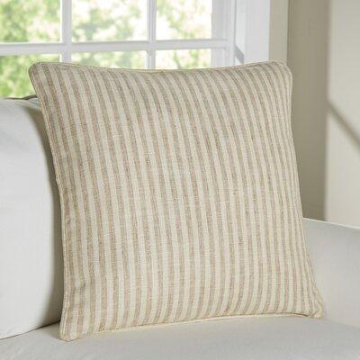 Adams Ticking Indoor/Outdoor Throw Pillow Color: Natural