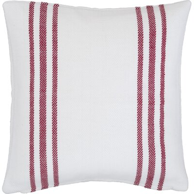 Lexington Indoor/Outdoor Throw Pillow Color: White / Red