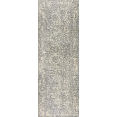 Houston Hand-Woven Silver Area Rug Rug Size: 4 x 6