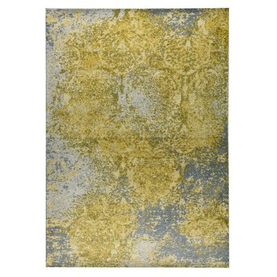 Austin Hand-Woven Gold/Gray Area Rug Rug Size: 4 x 6