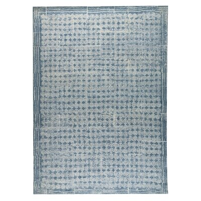 Burbank Hand-Woven Light Blue Area Rug Rug Size: 8 x 10