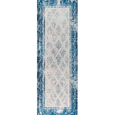 Corona Hand-Woven Blue Area Rug Rug Size: 9 x 12