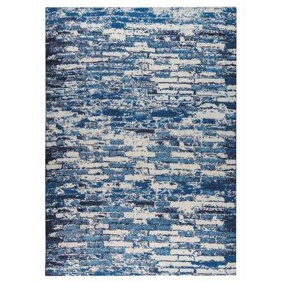 Fargo Hand-Woven Blue Area Rug Rug Size: 5 x 8