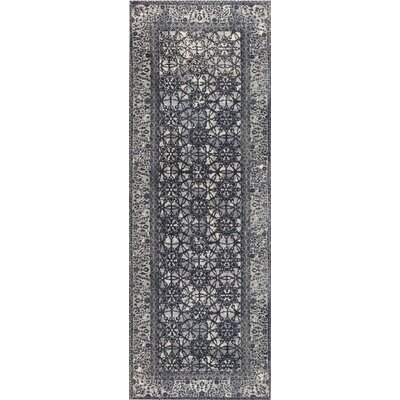 Houston Hand-Woven Gray Area Rug Rug Size: Runner 26 x 8