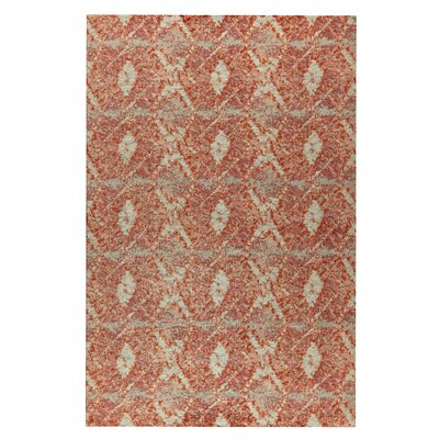 Lakeland Hand-Woven Red Area Rug Rug Size: 8 x 10