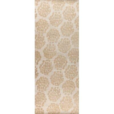 Midland Hand-Woven Beige Area Rug Rug Size: 4 x 6