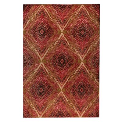 Lansing Hand-Woven Red Area Rug Rug Size: 4 x 6